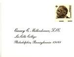 Envelope for invitation to Brother Daniel Burke's inauguration