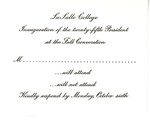 Reply card for invitation to Brother Daniel Burke's inauguration