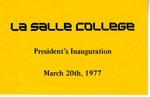 Ticket for Bro. Patrick Ellis' inauguration