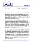 """La Salle University Announces Election of Bro. Michael McGinniss as School's 28th President; Nicholas Giordano Named Interim President"""
