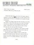Press release promoting Brother Daniel Burke's inauguration speech
