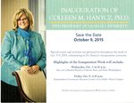 Save the Date for the Inauguration of Colleen Hanycz