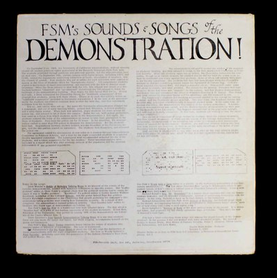Free Speech Movement presents Songs of the demonstration! [sound recording].